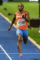 Solomon Bockarie in finale 200m (achtste) bij het EK atletiek in Berlijn op 9-8-2018