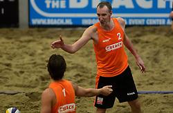 05-01-2013 VOLLEYBAL: NK INDOOR BEACH: AALSMEER<br /> In the Beach te Aalsmeer werd het NK beach gehouden / Jeroen Vismans en Richard Schuil<br /> ©2012-FotoHoogendoorn.nl