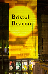 "© Licensed to London News Pictures; 23/09/2020; Bristol, UK. The concert venue ""Bristol Beacon"", formerly called the Colston Hall, has its new name projected by Limbic Cinema onto the building for the first time together with images of performers. Today the Bristol Music Trust announced the new name ""Bristol Beacon"" for the entertainment and music venue formerly called the Colston Hall which is currently undergoing a major refurbishment. The Trust said three years ago that they would change the name due to the long standing controversy of the Colston name, and in June this year signs and letters saying ""Colston Hall"" were removed from Bristol's largest music and entertainment venue over ongoing controversy with the name being associated with the 17th century slave trader Edward Colston. In 2017 Bristol Music Trust had said they would change the name when the hall was refurbished, but with continuing delays and the recent Black Lives Matters events the name removal was brought forward, despite the new name not then being announced. The name removal came just over a week after the statue of Edward Colston which stood in Bristol city centre for over 100 years was pulled down by protestors and thrown in Bristol Docks during a Black Lives Matters rally and march through the city centre. The rally was held in memory of George Floyd, a black man who was killed on May 25, 2020 in Minneapolis in the US by a white police officer kneeling on his neck for nearly 9 minutes. Edward Colston (1636 – 1721) was a wealthy Bristol-born English merchant involved in the slave trade, a Member of Parliament and a philanthropist. He supported and endowed schools, almshouses, hospitals and churches in Bristol, London and elsewhere, and his name is commemorated in several Bristol landmarks, streets, three schools and the Colston bun. The killing of George Floyd has seen widespread protests in the US, the UK and other countries against both modern day racism and historical legacies of slave"