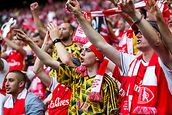 Fans celebrate after Arsenal win the match 2-0 to become FA Cup Winners - Rogan Thomson/JMP - 27/05/2017 - FOOTBALL - Wembley Stadium - London, England - Arsenal v Chelsea - FA Cup Final.