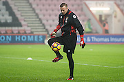 Bournemouth goalkeeper Artur Boruc (1) during the warm up before the Premier League match between Bournemouth and Crystal Palace at the Vitality Stadium, Bournemouth, England on 31 January 2017. Photo by Sebastian Frej.