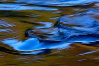 A river of fresh water flows toward the ocean