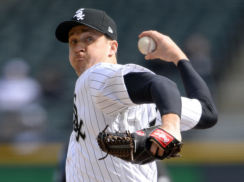 CHICAGO - APRIL 04:  Jake Petricka #52 of the Chicago White Sox pitches against the Detroit Tigers on April 04, 2017 at Guaranteed Rate Field in Chicago, Illinois.  The Tigers defeated the White Sox 6-3.  (Photo by Ron Vesely)   Subject:  Jake Petricka