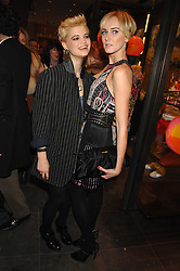 Left to right, PIXIE GELDOF and KIMBERLEY STEWART at a party hosted by Mulberry to celebrate the publication of The Meaning of Sunglasses by Hadley Freeman held at Mulberry 41-42 New Bond Street, London on 14th February 2008.<br /><br />NON EXCLUSIVE - WORLD RIGHTS