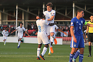 Manu Emmanuel Gyabuaa of Italy (8) scores during the UEFA European Under 17 Championship 2018 match between Israel and Italy at St George's Park National Football Centre, Burton-Upon-Trent, United Kingdom on 10 May 2018. Picture by Mick Haynes.