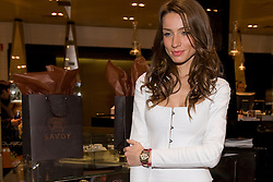 Model Raquel Jimenez attends new Savoy collection photocall at El Corte Ingles store on December 27, 2012, Madrid, Spain. Photo by Oscar Gonzalez / i-Images...SPAIN OUT