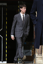 © Licensed to London News Pictures. 09/03/2020. London, UK. IMG model NOAH PONTE leaves Wood Green Crown Court. He along with LIAM GALLAGHER's son, GENE GALLAGHER and RINGO STARR'S grandson SONNY STARKEY have been charged with affray and and racially aggravated common assault following a late-night incident at a Tesco Express store on Heath Street in Hampstead on May 17 2019. The jury trail is set for Jan 2021. Photo credit: Dinendra Haria/LNP