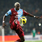 Trabzonspor's Ibrahima YATTARA during their Turkish superleague soccer derby match Fenerbahce between Trabzonspor at the Sukru Saracaoglu stadium in Istanbul Turkey on Sunday 30 January 2011. Photo by TURKPIX