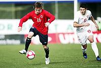 Fotball , 3. mai  2011 , U19 , WC. qual.<br /> Norway -Serbia 0-3<br /> <br /> Milos Jodic   , Serbia<br /> Yann-Erik de Lanlay , Norge