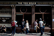 The Ten Bells Pub in Spitalfields, London. This pub. legend has it, was once frequented by Jack the Ripper.