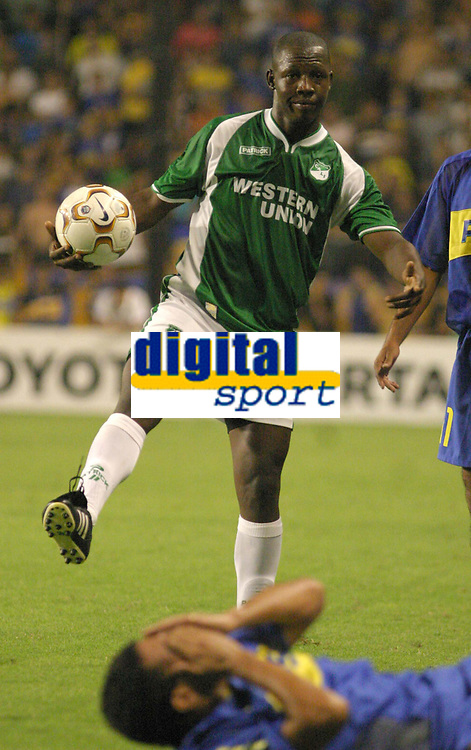 Fotball<br /> Libertadores Cup<br /> Boca Juniors v Deportivo Cali<br /> Buenos Aires<br /> 24. mars 2004<br /> Foto: Digitalsport<br /> Norway Only<br /> <br /> NELSON RIVAS., CALI