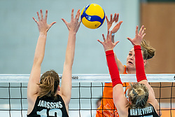 / in action during the Women's friendly match between Netherlands and Belgium at Sporthal De Basis on may 19, 2021 in Sliedrecht, Netherlands (Photo by RHF Agency/Ronald Hoogendoorn)