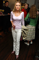 The HON.IMOGEN LLOYD WEBBER daughter of Andrew Lloyd Webber at a party to celebrate the publication of 'The Russian House' by Ella Krasner held at De Beers, 50 Old Bond Street, London W1 on 9th June 2005.<br /><br />NON EXCLUSIVE - WORLD RIGHTS