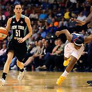 Anna Cruz, New York Liberty, in action during the Connecticut Sun Vs New York Liberty WNBA regular season game at Mohegan Sun Arena, Uncasville, Connecticut, USA. 16th May 2014. Photo Tim Clayton
