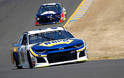 June 22, 2018 - Sonoma, CA, U.S. - SONOMA, CA - JUNE 22: Chase Elliott, driver of the Number 9 Hendrick Motorsports Napa Auto Parts Chevrolet goes through Turn 8 during practice for the Monster Energy NASCAR Cup Series - Toyota/Save Mart 350 at Sonoma Raceway in Sonoma, CA. (Photo by Larry Placido/Icon Sportswire) (Credit Image: © Larry Placido/Icon SMI via ZUMA Press)