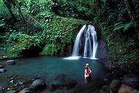 France - Département d'Outre mer de la Guadeloupe (DOM)- Basse Terre - Cascade aux Écrevisse