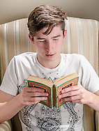 Teenager Reading Book - Oct 2015