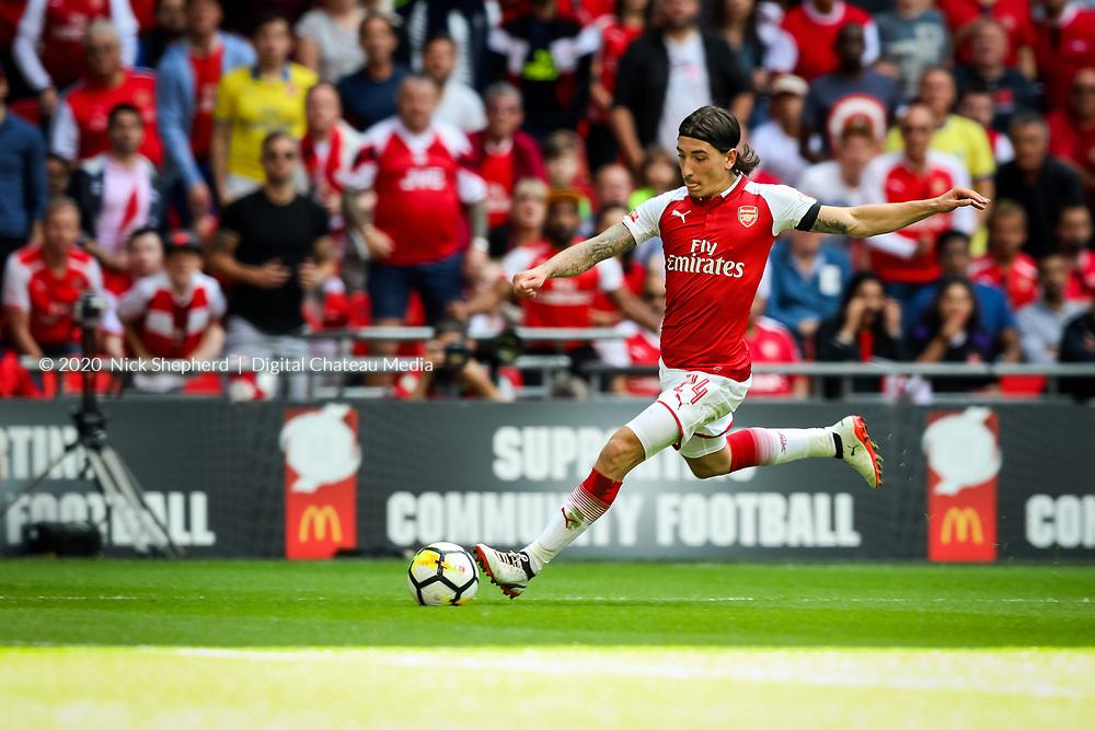 Player: Hector Bellerin. Arsenal FC v Chelsea FC, FA Community Shield, Wembley National Stadium, Aug 6 2017.<br />Photography: © 2017 Nick Shepherd/Chateau media