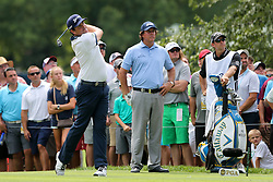August 9, 2018 - St. Louis, Missouri, United States - Keegan Bradley tees off the 7th hole during the first round of the 100th PGA Championship at Bellerive Country Club. (Credit Image: © Debby Wong via ZUMA Wire)