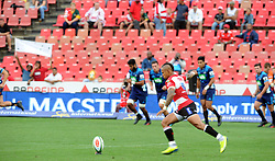 10/03/2018 Elton Jantjies converted 100% of his kicks. Gauteng Lions vs the Auckland Blues at Emirates Airlines Stadium, Ellis Park, Johannesburg, South Africa. Picture: Karen Sandison/African News Agency (ANA)