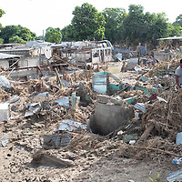 Scenes of the destruction caused by hurricane Eta in Chamelecón, San Pedro Sula.<br /> <br /> Hurricanes Eta and Iota hit hard on the north coast of Honduras, leaving some areas flooded for three weeks, destroying people's furniture, belongings, vehicles and houses as well as standing crops.