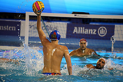 July 24, 2018 - Barcelona, Spain - Konstantin Kharkov (Russia) during the match between Italy and Russia, corresponding to the women group stage of the European Water Polo Championship, on 19th July, 2018, in Barcelona, Spain. (Credit Image: © Joan Valls/NurPhoto via ZUMA Press)