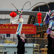 London: Chinese New Year of the Rooster spectacle Guangzhou Art Troupe at National Maritime Museum