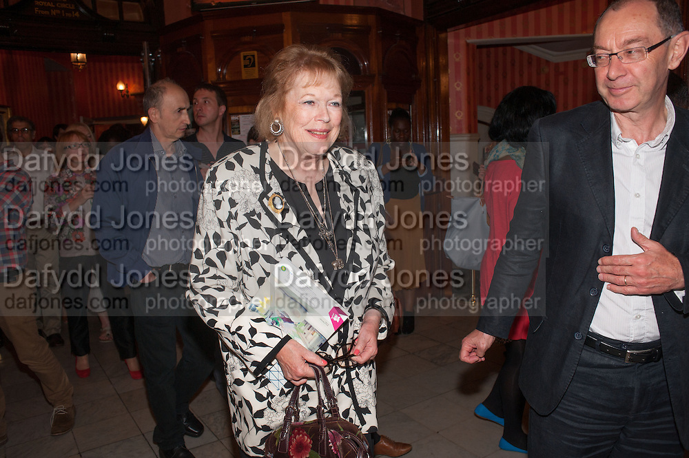 LADY ANTONIA PINTER, West End opening of RSC production of Julius Caesar at the Noel Coward Theatre on Saint Martin's Lane. After-party  at Salvador and Amanda, Gt. Newport St. London. 15 August 2012.