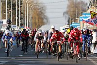 Sykkel<br /> 28.02.2016<br /> Foto: PhotoNews/Digitalsport<br /> NORWAY ONLY<br /> <br /> KRISTOFF Alexander (NOR) Rider of TEAM KATUSHA crosses the finish line as second  during  the 68th Kuurne-Brussel-Kuurne cycling race with start and finish in Kuurne, Belgium.