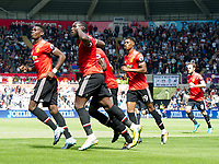 Football - 2017 / 2018 Premier League - Swansea City vs. Manchester United<br /> <br /> Manchester Utd celebrate Eric Bailly's goal —<br /> , at Liberty Stadium.<br /> <br /> COLORSPORT/WINSTON BYNORTH