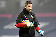 Portrait of Sheffield United goalkeeper Michael Verrips  (21) holding a football during the Premier League match between West Bromwich Albion and Sheffield United at The Hawthorns, West Bromwich, England on 28 November 2020.