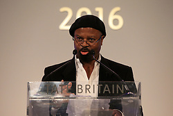 Nigerian poet and novelist Ben Okri before announcing the winner of the 2016 Turner Prize.