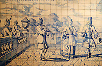 Portugal, Lisbonne, Musée National de l'Azulejo, azulejo ancien // Portugal, Lisbon, National Museum of Azulejo