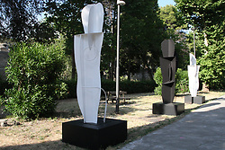 June 23, 2017 - Pompei, Campania/Napoli, Italy - Contemporary works by the artist Angelo Casciello. Works of the sculptor Angelo Casciello exhibited in the archaeological site of Pompeii. (Credit Image: © Salvatore Esposito/Pacific Press via ZUMA Wire)