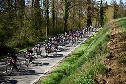 Ann-Sophie Duyck (BEL) and Lotta Lepistö (FIN) near the front at La Flèche Wallonne Femmes 2018, a 118.5 km road race starting and finishing in Huy on April 18, 2018. Photo by Sean Robinson/Velofocus.com