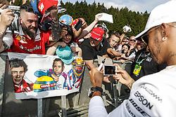 August 24, 2017 - Spa-Francorchamps, Belgium - Motorsports: FIA Formula One World Championship 2017, Grand Prix of Belgium, .#44 Lewis Hamilton (GBR, Mercedes AMG Petronas F1 Team) (Credit Image: © Hoch Zwei via ZUMA Wire)