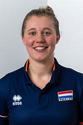 21-12-2018 NED: Photoshoot selection of Orange Young Boys, Arnhem <br /> Orange Young Boys 2018 - 2019 / Fysiotherapeut Anne Visser