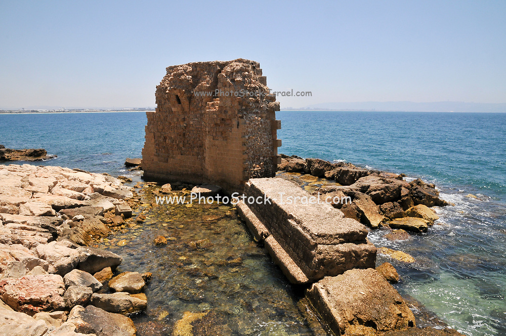 The Pisan harbour in the old town of akko or Acre, a city in northern Israel with a history spanning centuries. It also played a major role in the holy land crusades