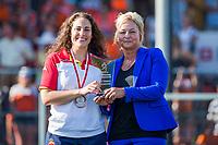 ANTWERPEN -  Best Goalkeeper Maria Ruiz,  de   finale  dames  Nederland-Duitsland  (2-0) bij het Europees kampioenschap hockey.   COPYRIGHT  KOEN SUYK