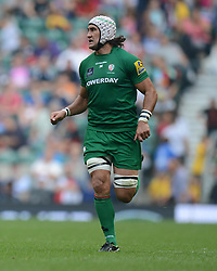 London Irish Flanker Blair Cowan - Photo mandatory by-line: Alex James/JMP - 07966 386802 - 06/09/2014 - SPORT - RUGBY UNION - London, England - Twickenham Stadium - Saracens v Wasps - Aviva Premiership London Double Header.