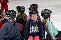 KELOWNA, CANADA - FEBRUARY 13: Young fans enjoy a game of musical chairs during intermission on family day at the Kelowna Rockets against the Seattle Thunderbirds on February 13, 2017 at Prospera Place in Kelowna, British Columbia, Canada.  (Photo by Marissa Baecker/Shoot the Breeze)  *** Local Caption ***