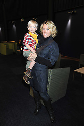 """CERYS MATTHEWS and her son JOHN JONES at a VIP Opening night of Disney & Pixar's """"Finding Nemo on Ice"""" at The O2 Arena Grennwich London on 23rd October 2008."""
