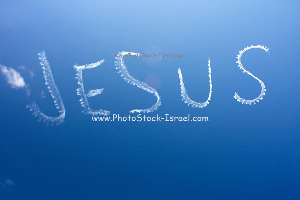 Sky Writing Jesus. Photographed in Sydney, Australia