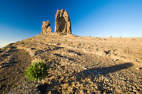 """The """"Roque Nublo"""", a big rock formation in the central area of Gran Canaria Island, in Canary Islands, Spain."""
