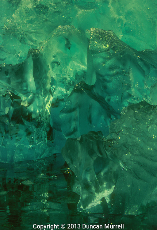 "Ancient ""blue"" iceberg, Le Conte Inlet, Southeast Alaska, USA."