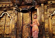Changu Narayan Hindu temple. Kathmandu Valley, Nepal. A UNESCO World Heritage site.