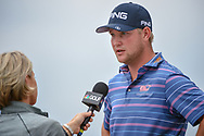 Trey Mullinax (USA) is interviewed after shooting a course record 62 during Round 3 of the Valero Texas Open, AT&T Oaks Course, TPC San Antonio, San Antonio, Texas, USA. 4/21/2018.<br /> Picture: Golffile   Ken Murray<br /> <br /> <br /> All photo usage must carry mandatory copyright credit (© Golffile   Ken Murray)