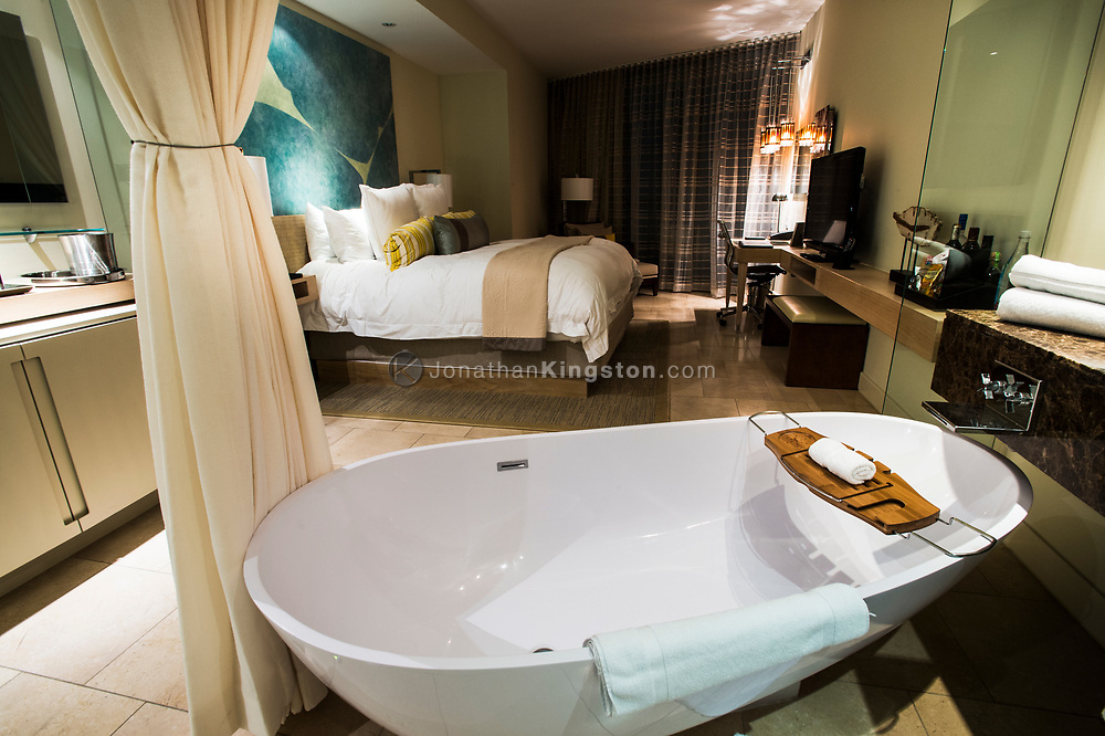 Luxurious room in the Trump hotel in Panama City, Panama.