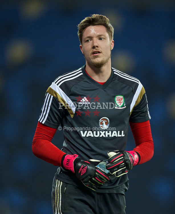 HAIFA, ISRAEL - Friday, March 27, 2015: Wales' goalkeeper Wayne Hennessey during a training session at the Sammy Ofer Stadium ahead of the UEFA Euro 2016 qualifying Group B match against Israel. (Pic by David Rawcliffe/Propaganda)