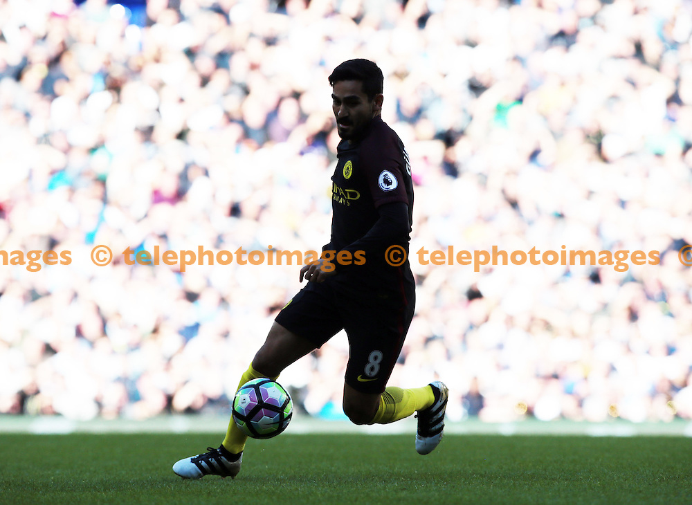 Manchester City's Likay Gundogan<br /> during the Premier League match between Tottenham Hotspur and Manchester City at White Hart Lane in London. October 1, 2016.<br /> James Galvin / Telephoto Images<br /> +44 7967 642437